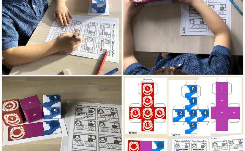 Plus- und Minusaufgaben würfeln in Klasse 1 - Blog
