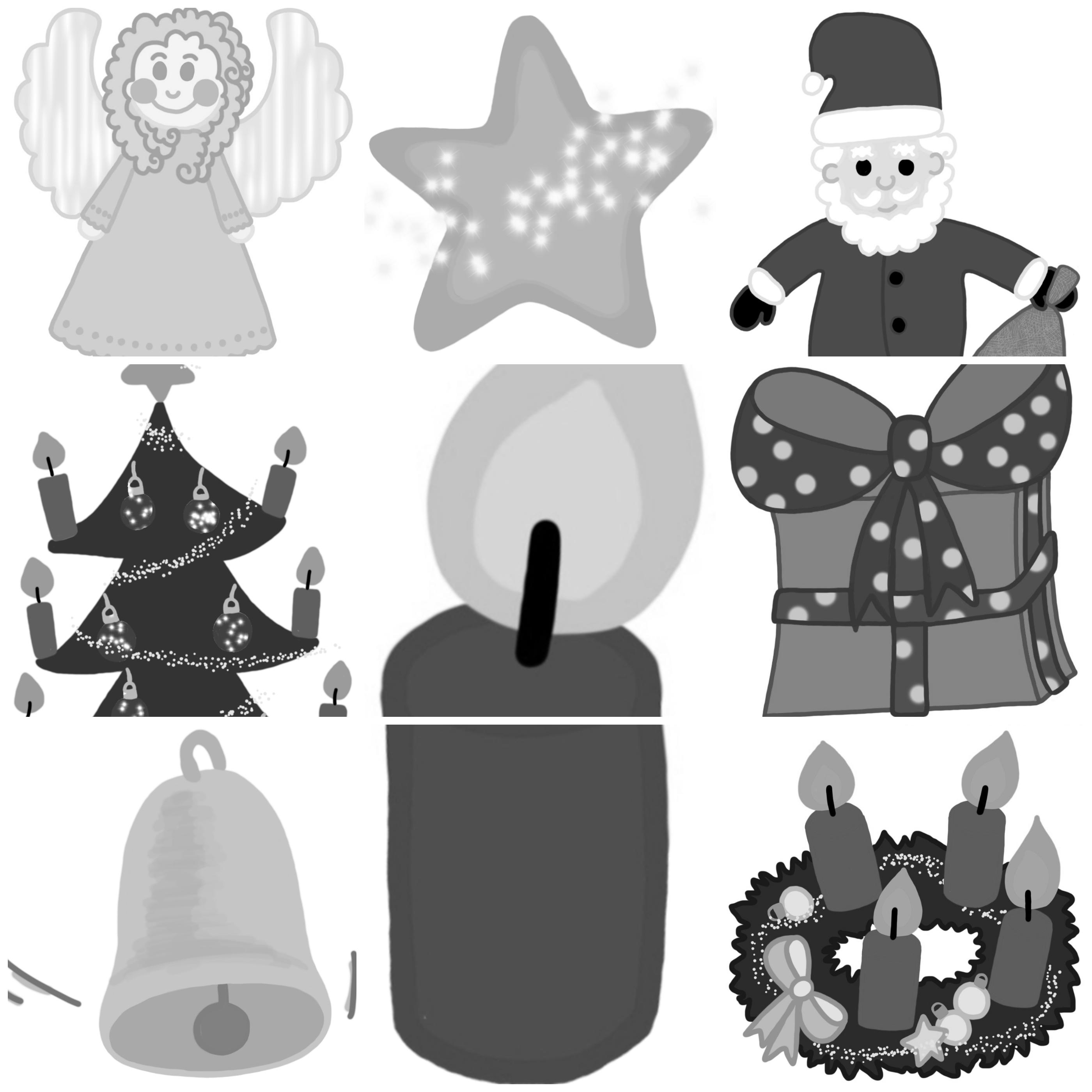 Bilder Weihnachten Clipart.Clipart Bundle Weihnachten Schwarz Weiß Blog Bildung Leben