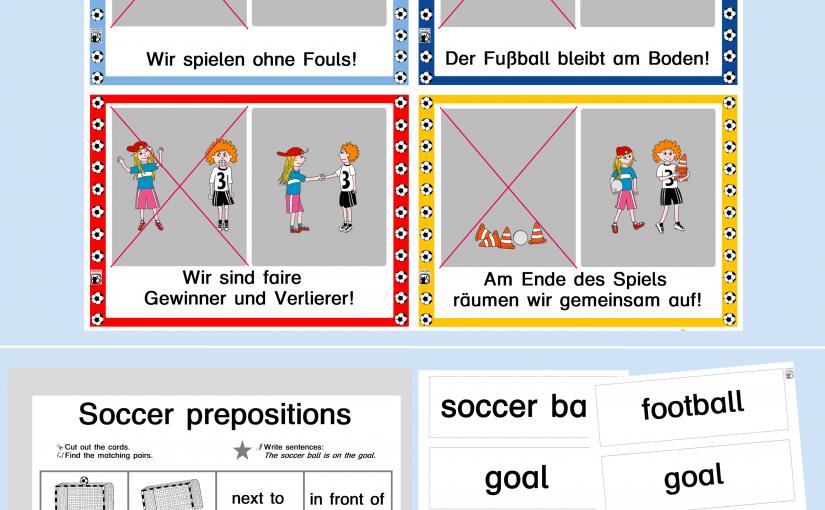 Samstag, sechster Tag der Fußballwoche: Fußballregeln und Soccer in Englisch