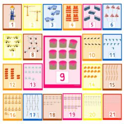 Zahlenplakate