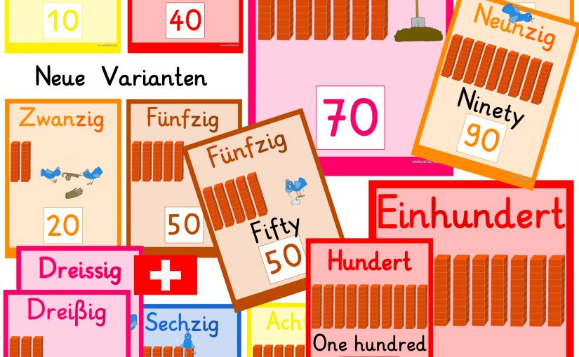Extra für die Schweiz die 30 ohne ß und andere Varianten der Zahlenkarten