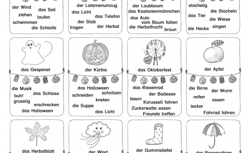 """Für """"Deutsch als Zweitsprache"""" ein Herbst-Mix: Welcher Begriff gehört nicht dazu?"""