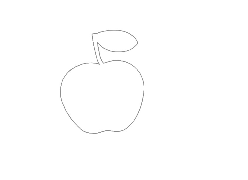 Vorlage: Apfel - Schulkater