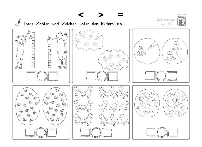 Wunderbar Mathe Arbeitsblatt Größer Als Kleiner Gleich ...