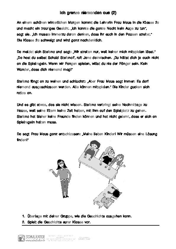 Arbeitsblatt Gruppenarbeit Silbenschrift - Schulkater