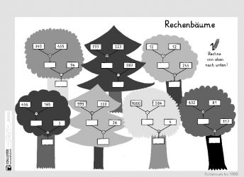 Arbeitsblatt 1: Einfache Rechenbäume - Schulkater