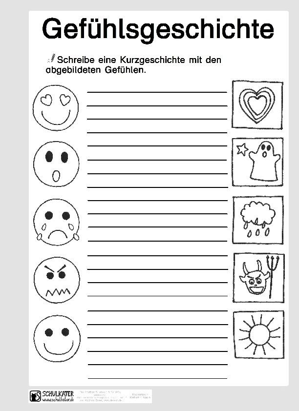 Arbeitsblatt: Gefühlsgeschichte - Schulkater
