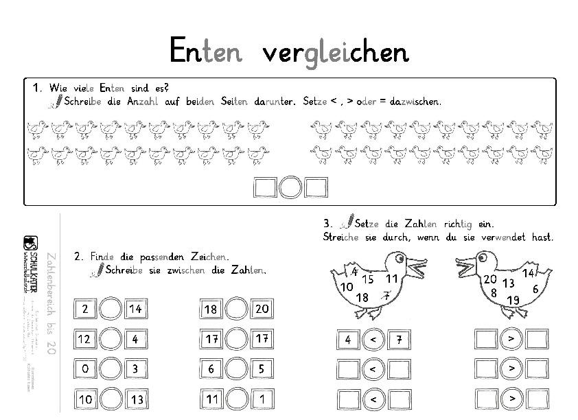 Ungewöhnlich Ordnung Und Vergleichen Ganzen Zahlen Arbeitsblatt ...