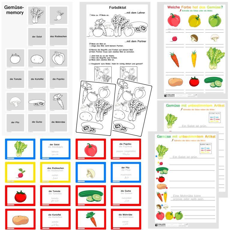 Gemüse - erste Sätze
