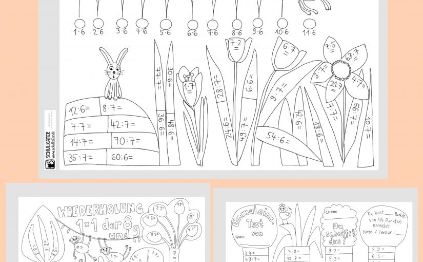 Einmaleins-Wiederholungs-Blätter, Homeschooling und ein, zwei Worte zum digitalen Bildungskongress