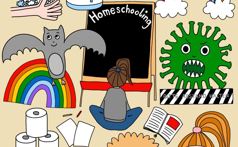 Corona Cliparts für Dein Unterrichtsmaterial – Clipart Bundle in Bunt oder Schwarz-Weiß