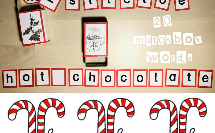 Zweiter Adventskalendertag * Matchbox CHRISTMAS words für Englisch 3/4 *