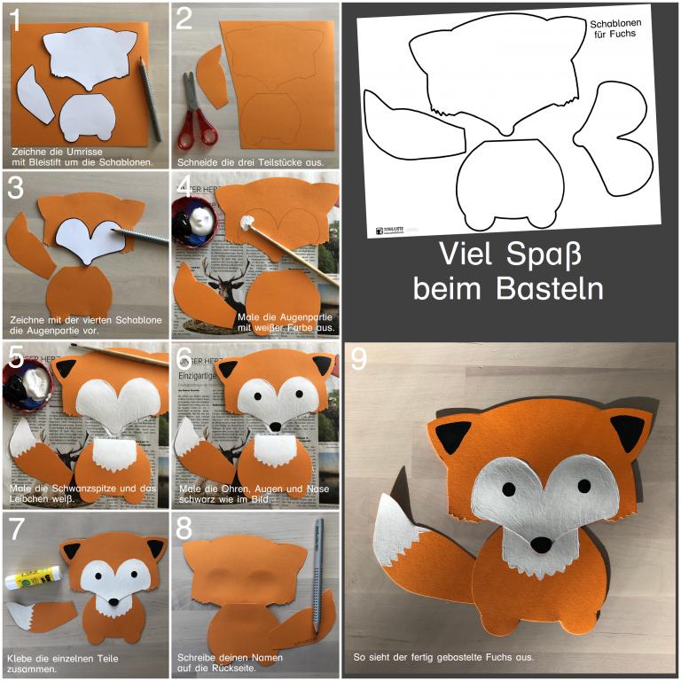 Tonkarton-Füchse