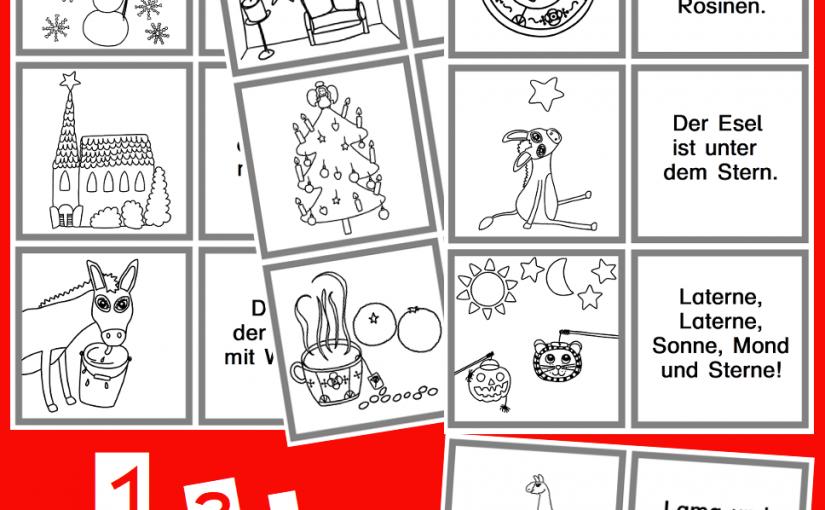 Lesezuordnungskarten mit den Anfangslauten aus Klasse 1