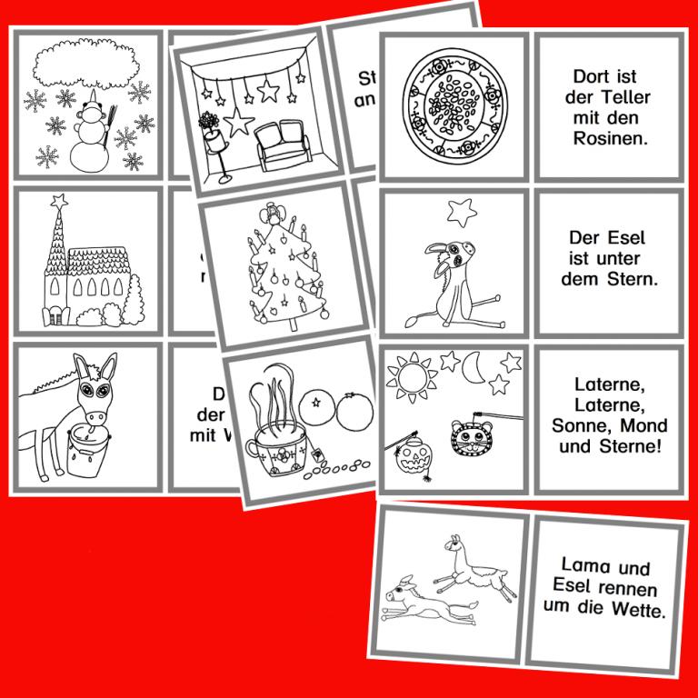 Lesezuordnungskarten
