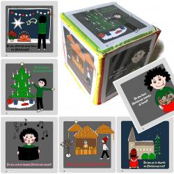 Pocket Cube mit Weihnachtsfragen