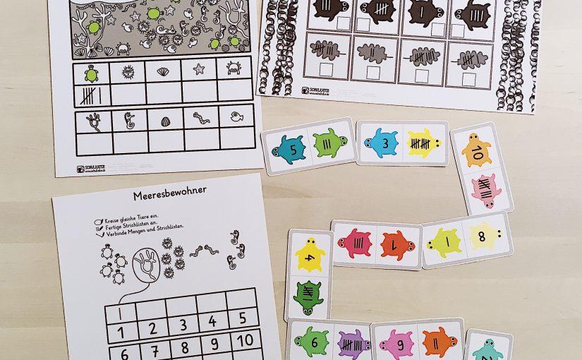 Neues Material für Mathematik in Klasse 1: Schildkröten-Strichlisten