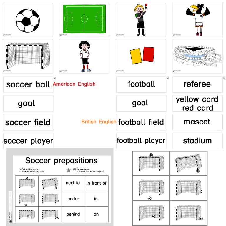 Soccer Prepositions