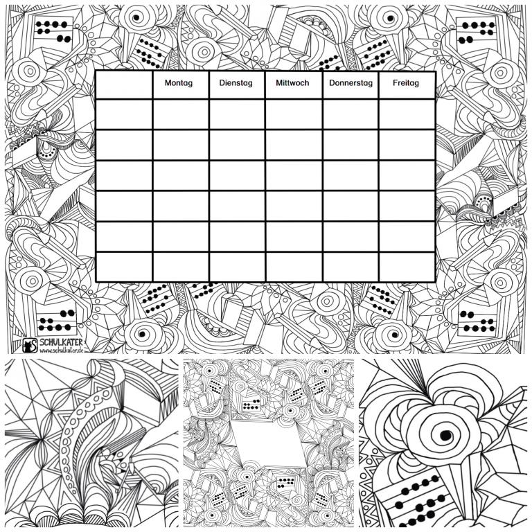 Stundenplan-Mandala