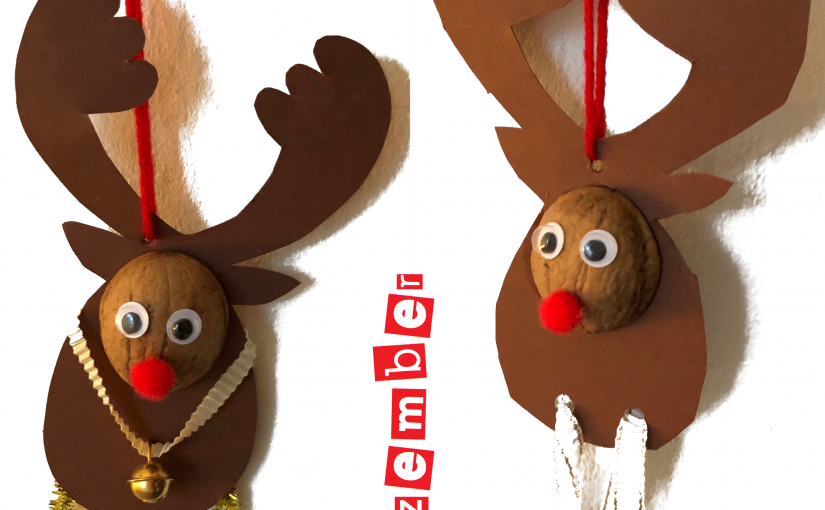 Weihnachts-Rentiere zum Nikolaustag – Schablonen als Download