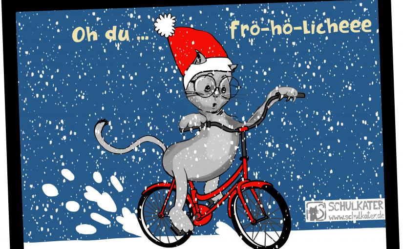 Gewinne eine Schulkater-Weihnachtspostkarte zum 2.Advent